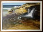 waterfall on the coast