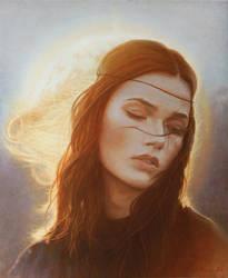 portrait.girl.sun
