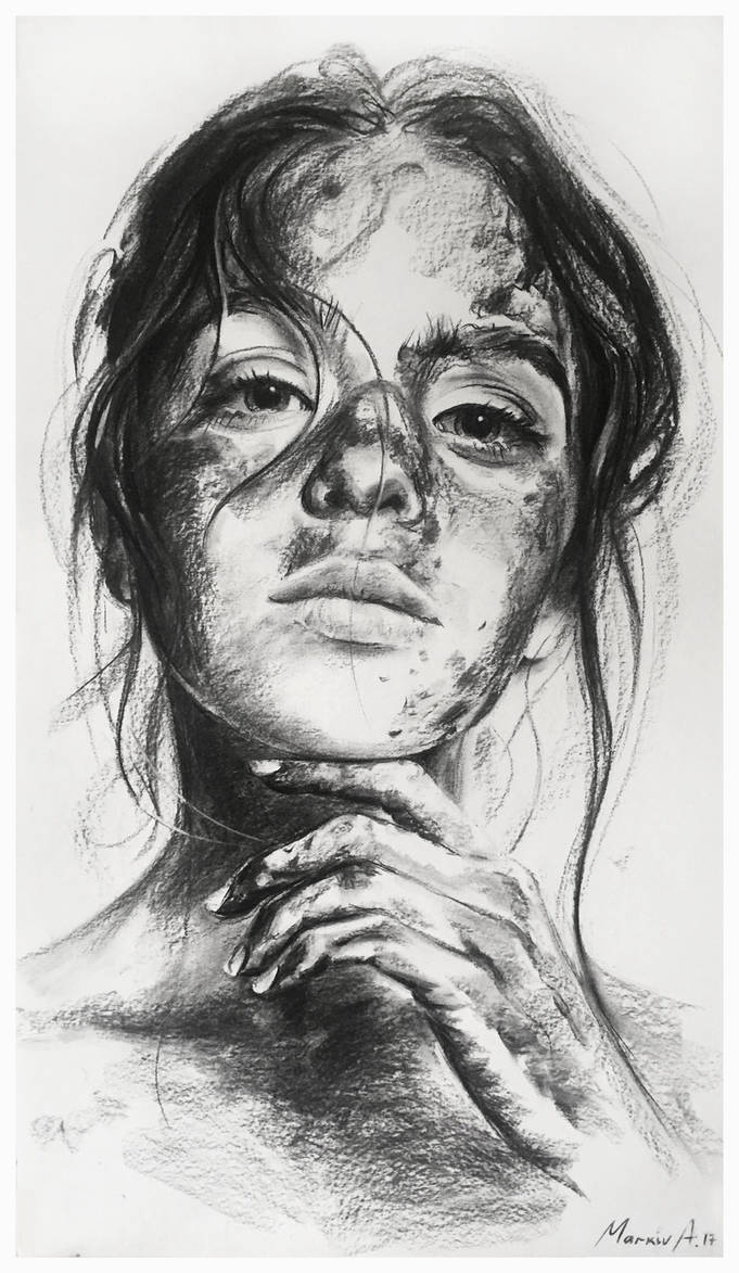charcoal portrait by AndriyMarkiv