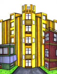 The Golden Apartment Building by FatefulWings