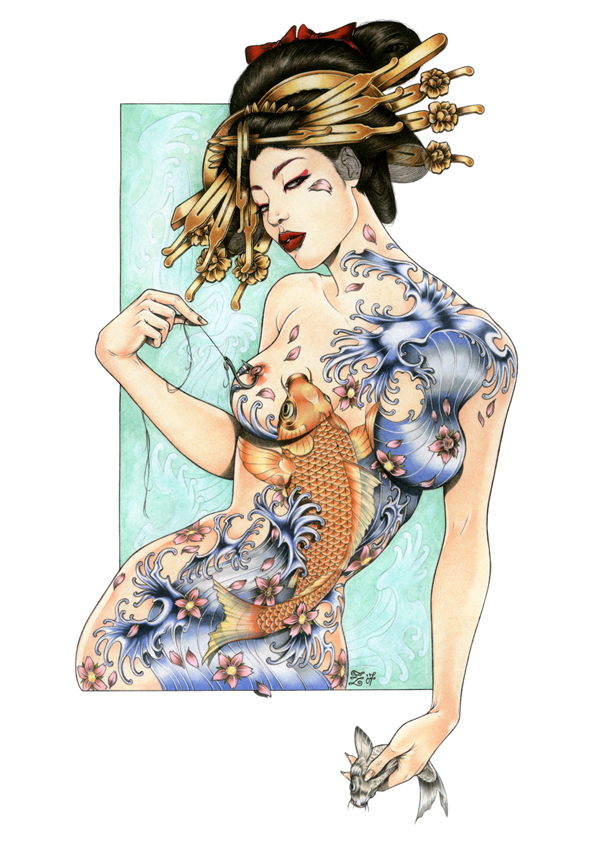 Tags: best artist, cool pics, geisha, girl, tattoo, tattoo art