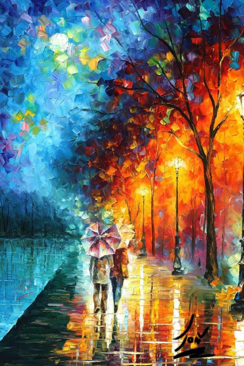 Old DreamLeonid Afremov By ColorBlindArtist On DeviantArt - Blind artist