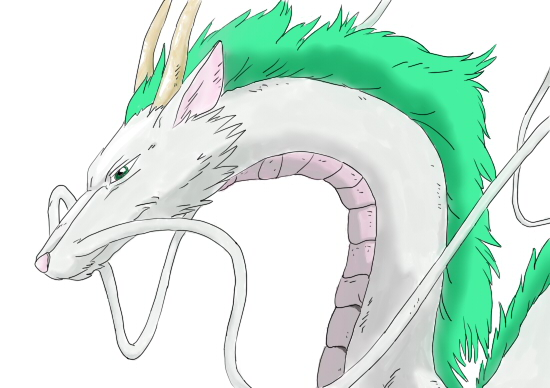 Haku, Dragon form(coloured) - Spirited Away by ...