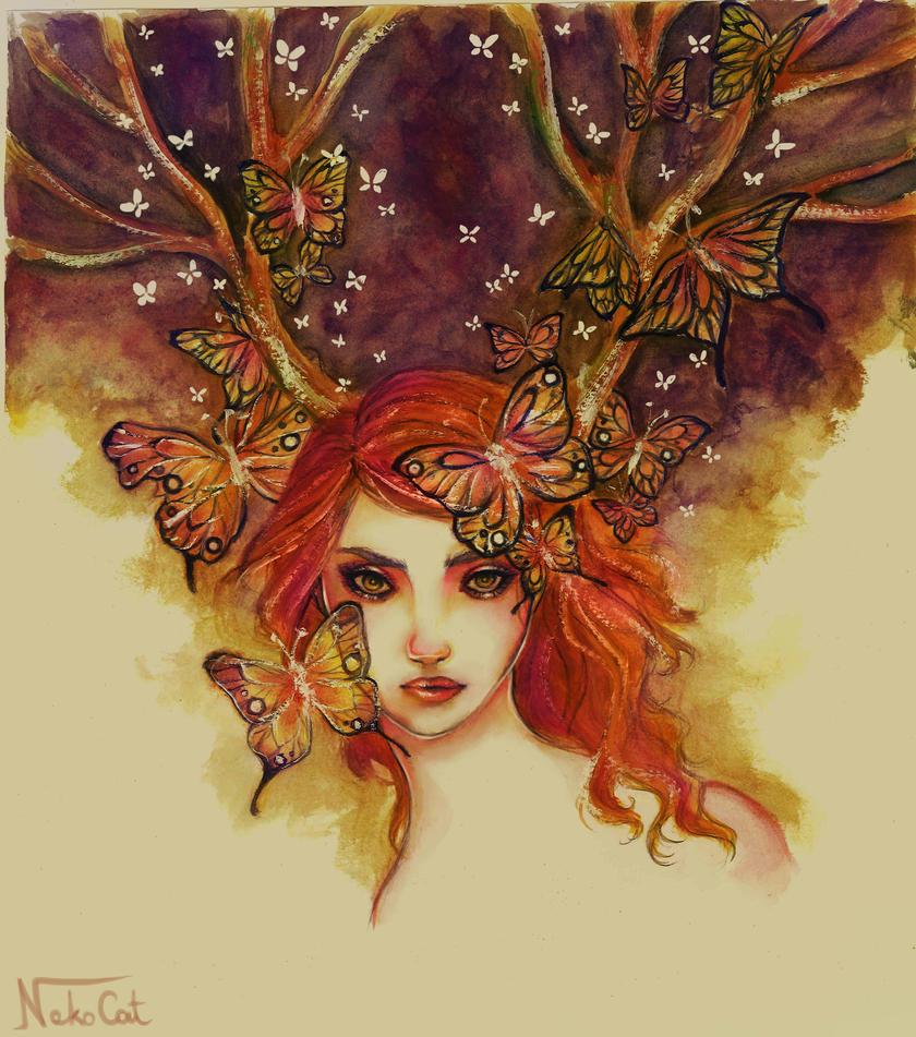 Deer spirit by coralinejohns