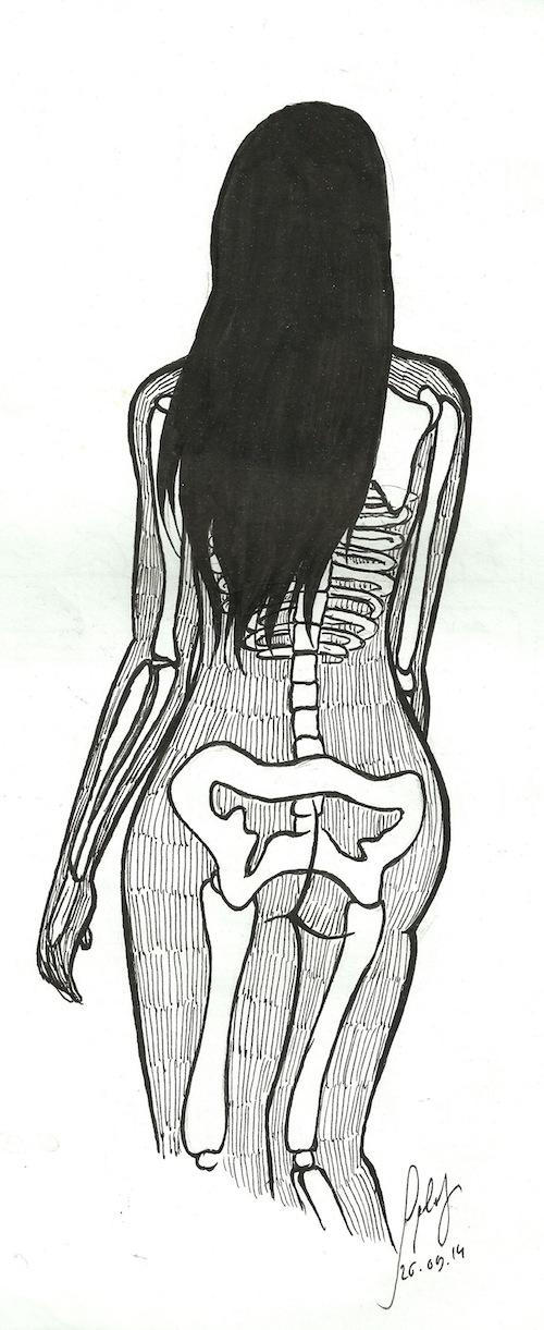 Skeleton woman by Splaf