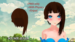 MMD Nume Hair DL by Allena-Frost-Walker