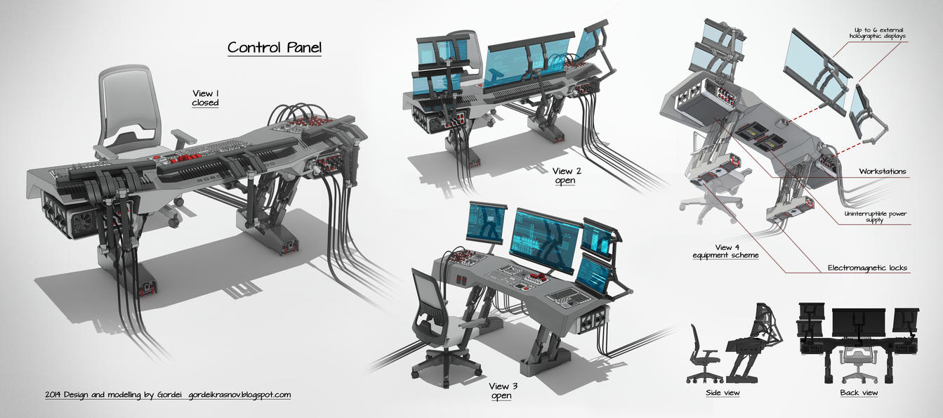 Sci Fi Control Levers : Control panel layout by gordeikrasnov on deviantart