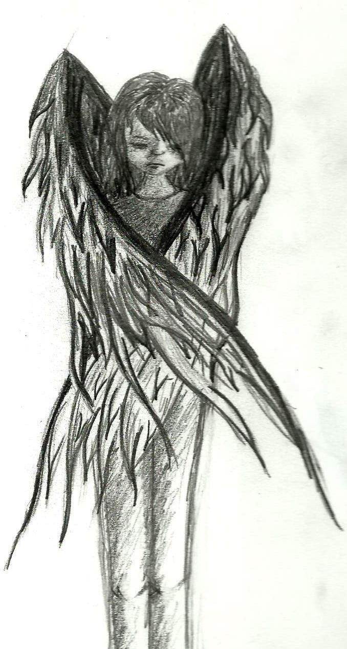 sad angel by topazruby on deviantart