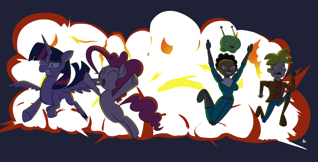 Final Space X MLP: Crossover Explosion by FeralRoku