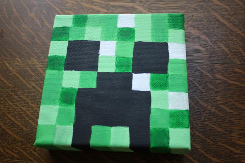 Minecraft Creeper painting by Lixaa