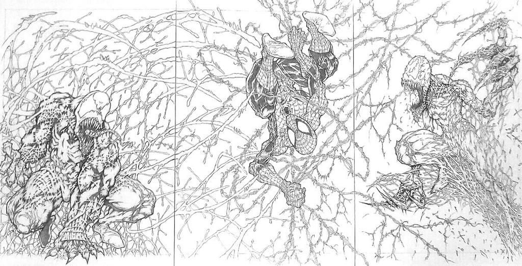 Venom, Spidey and Carnage by 4RN13