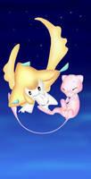 mew and jirachi by pokemony