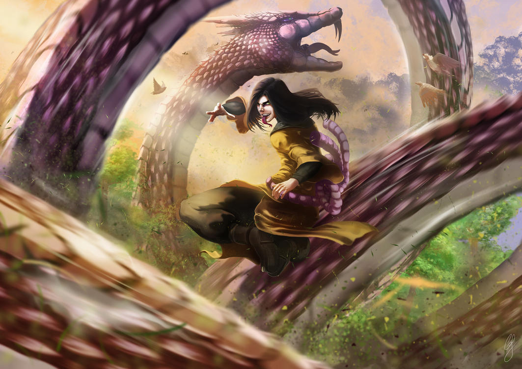 Orochimaru to Manda by GJMattos