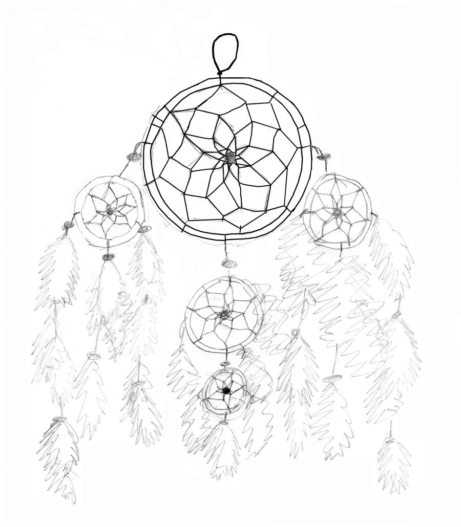 Dream Catcher Pencil Drawing by XxXSilver-WolfXxX on ...