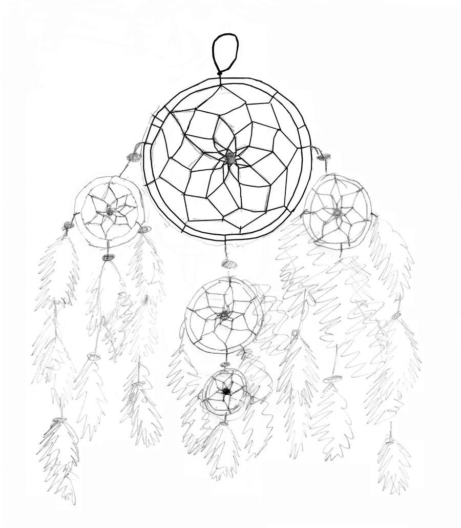Dream Catcher Pencil Drawing by XxXSilver-WolfXxX on ...