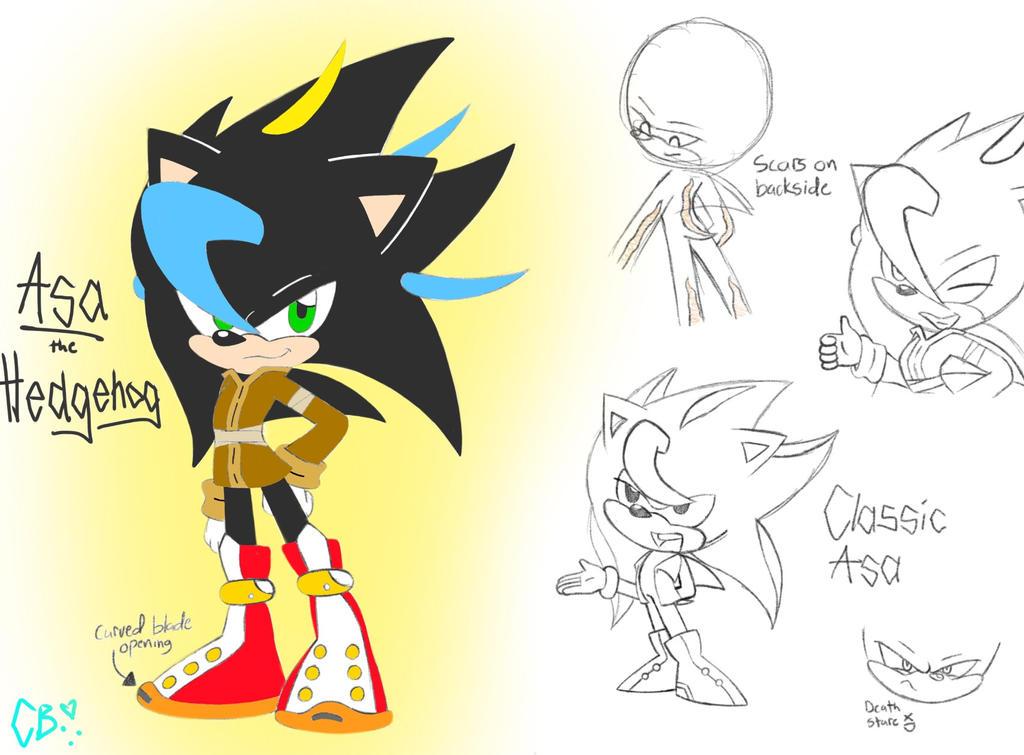 Line Drawing Hedgehog : Asa the hedgehog ref by sonicbionicle on deviantart