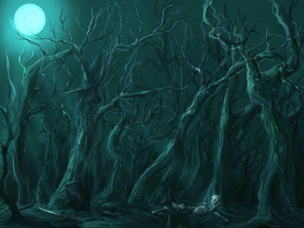 art dark car forest - photo #36