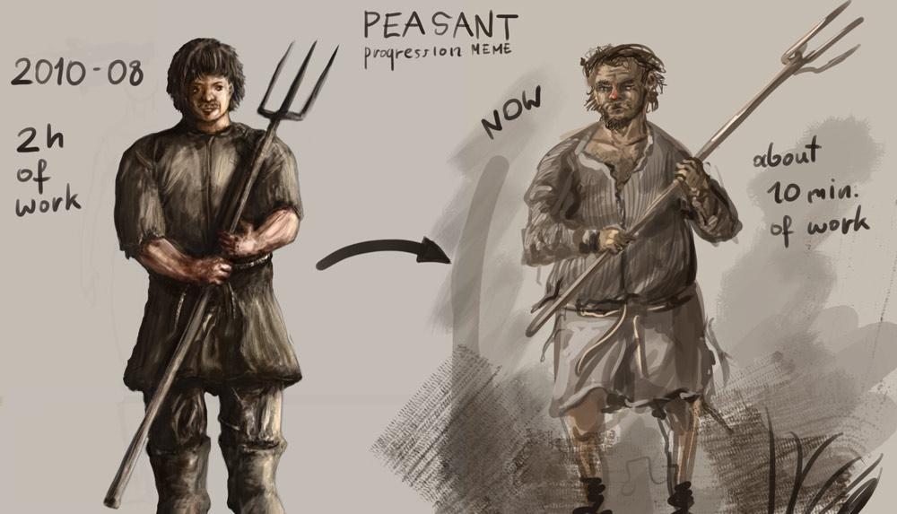 peasant progress by Ranivius