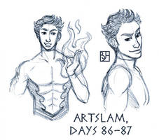 Artslam: Muse Day 86-87 by KabochaN