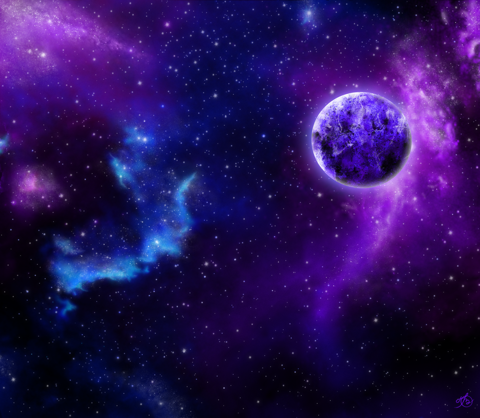 Violet Galaxy By Ov Art On Deviantart