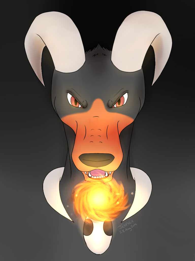 Houndoom by Jetrelie