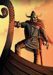 viking in drakkar