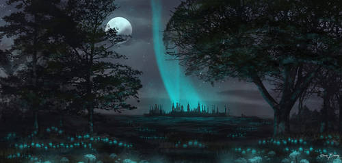 Night / speed painting by bakarov