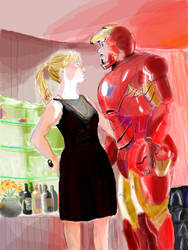 Pepper and Ironman by Tilly623