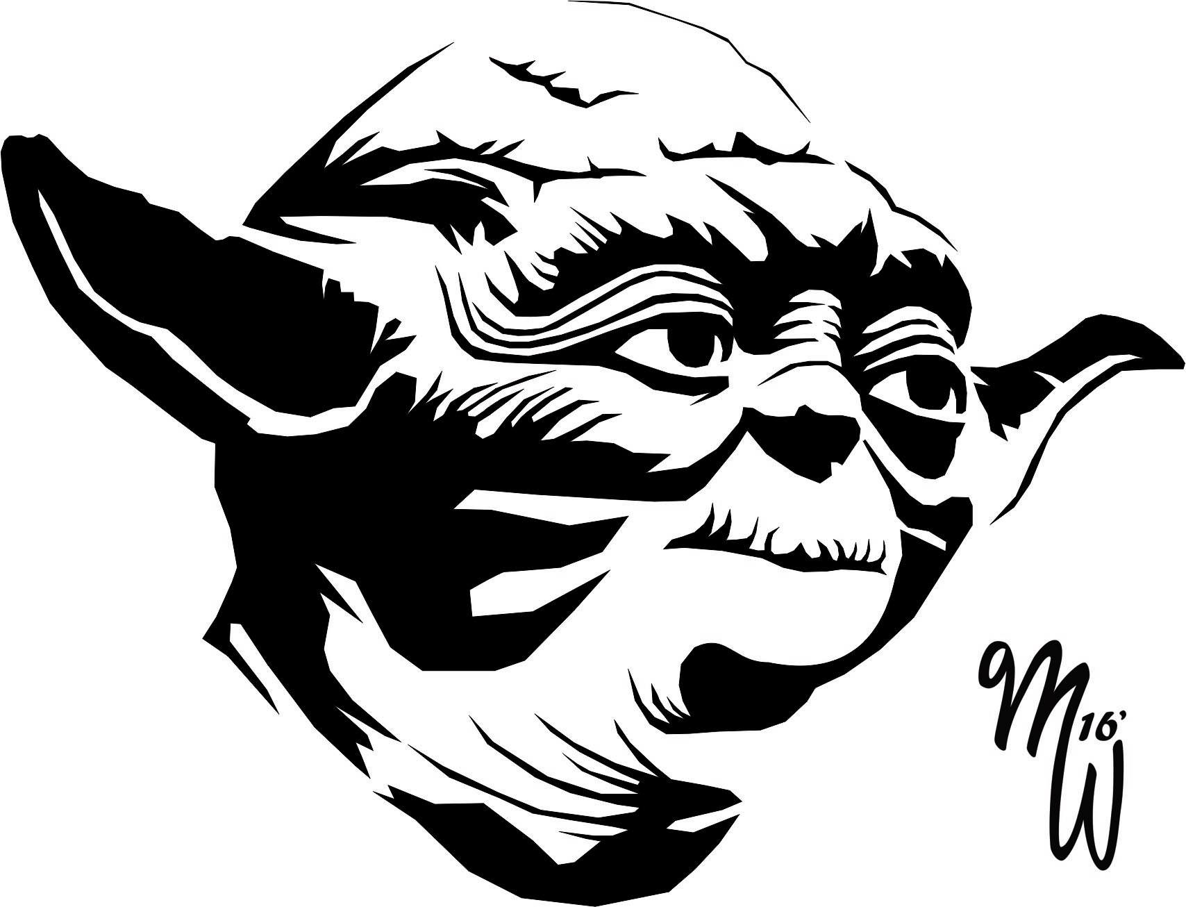 Line Art Yoda : Yoda vector wip by milliewright on deviantart