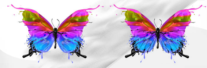 Ink Butterly - borboleta by d2neodesigner
