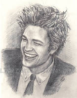 Rob Pattinson Laughing by LinaZol