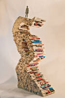 'Structure' - Manipulated Book Sculpture [3/4View] by jonesblachowicz