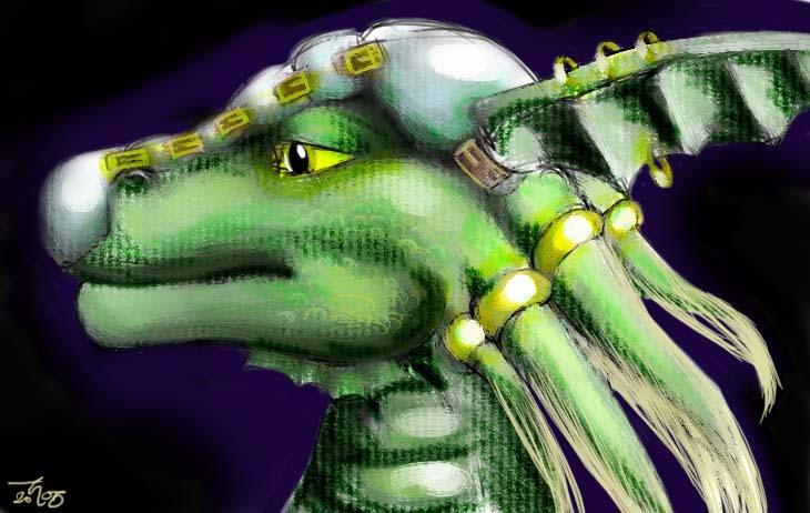 A Dragon Warrior Design by Larazoma