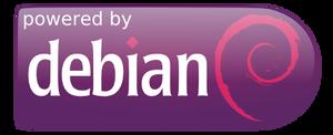 Powered by Debian