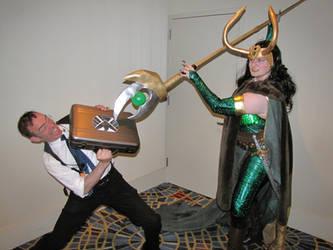 Lady Loki Says Hello to S.H.I.E.L.D.