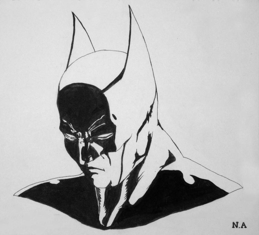 Batman Head Sketch By Nabil25 On DeviantART