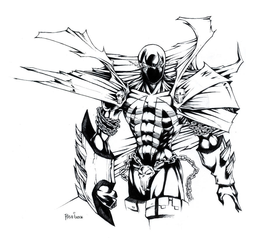 spawn rough sketch by irving
