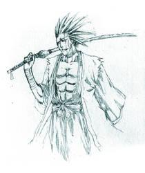 Bleach: Zaraki sketch by irving-zero