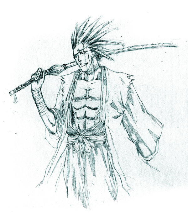 Bleach Zaraki Sketch By Irving Zero