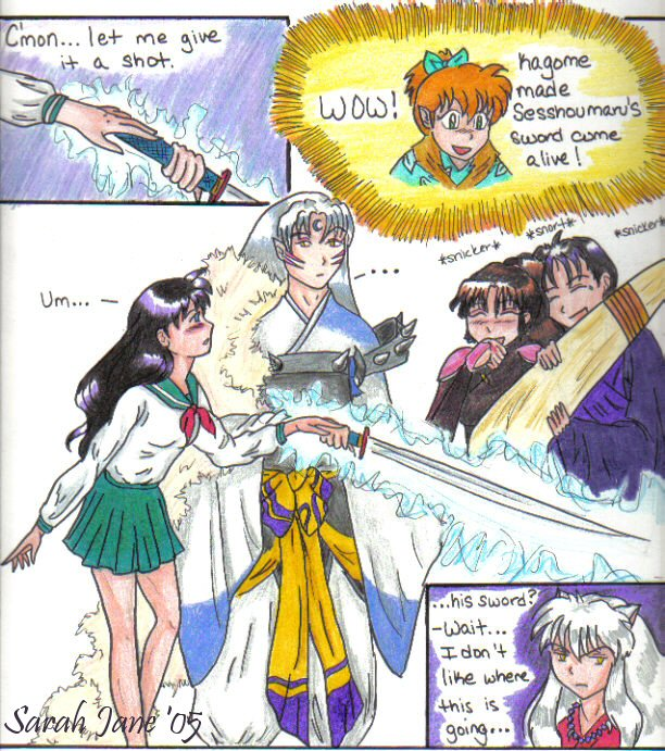 Kagome's Magic Touch by Rumdiculous on DeviantArt