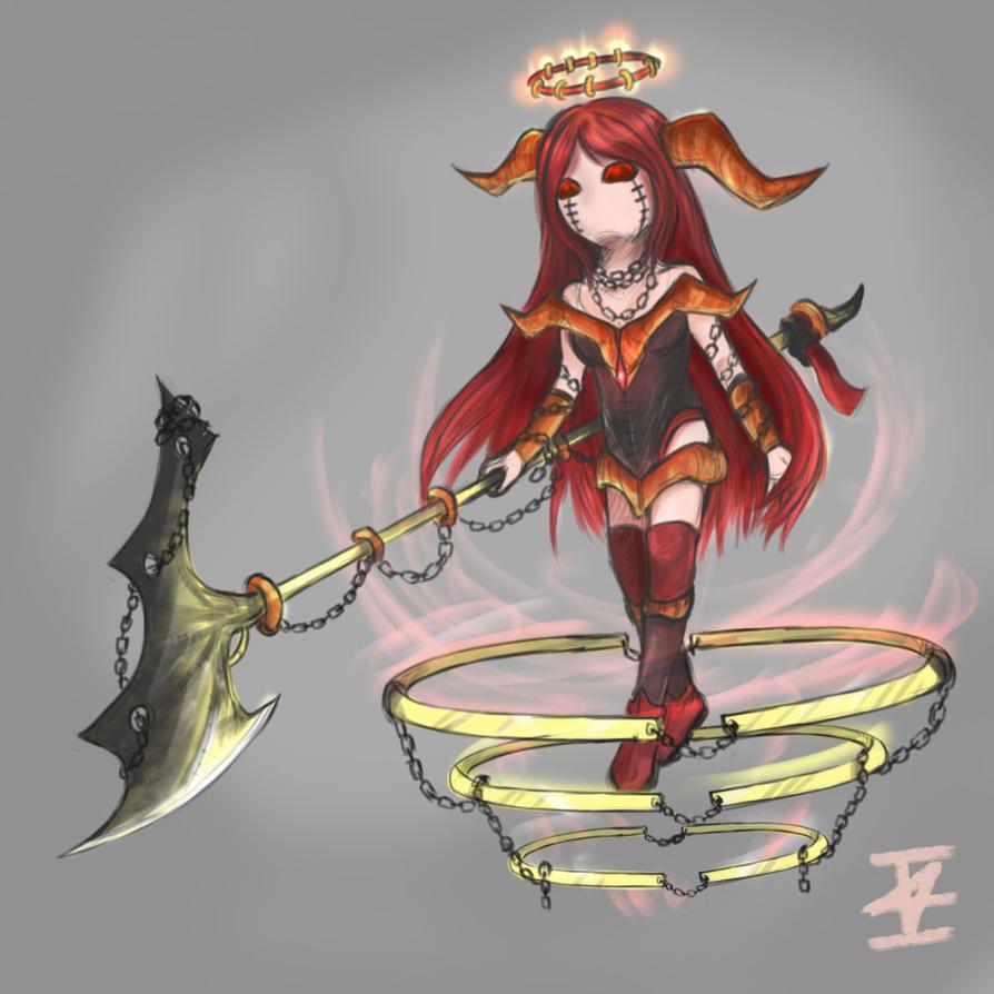 *5 Chained Crimson Cheza - Signed by ImanuelViczzz
