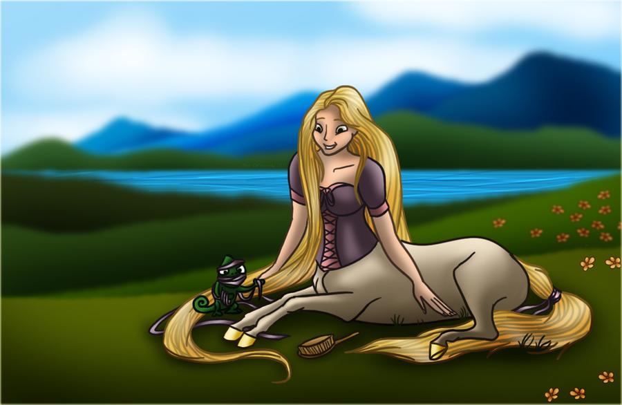 Rapunzel as Centaurette by Valvador on DeviantArt