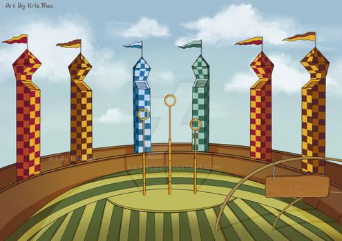 The Hogwarts Quidditch pitch