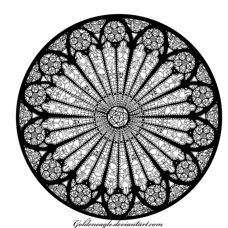 The rose window of shason takaran by goldeneagle on deviantart for Rose window design