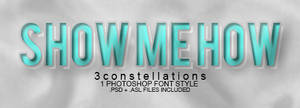 'Show Me How' - Font/Layer Style