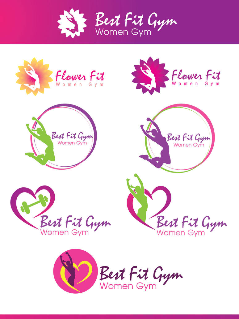 women gym logo design by mahdysayeddesigns on deviantart