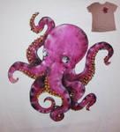 Purple octopus, T-shirt