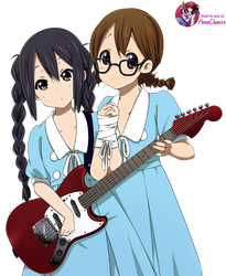 Azusa and Yui render