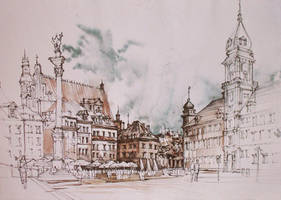 Warsaw Old Town by Alphirin