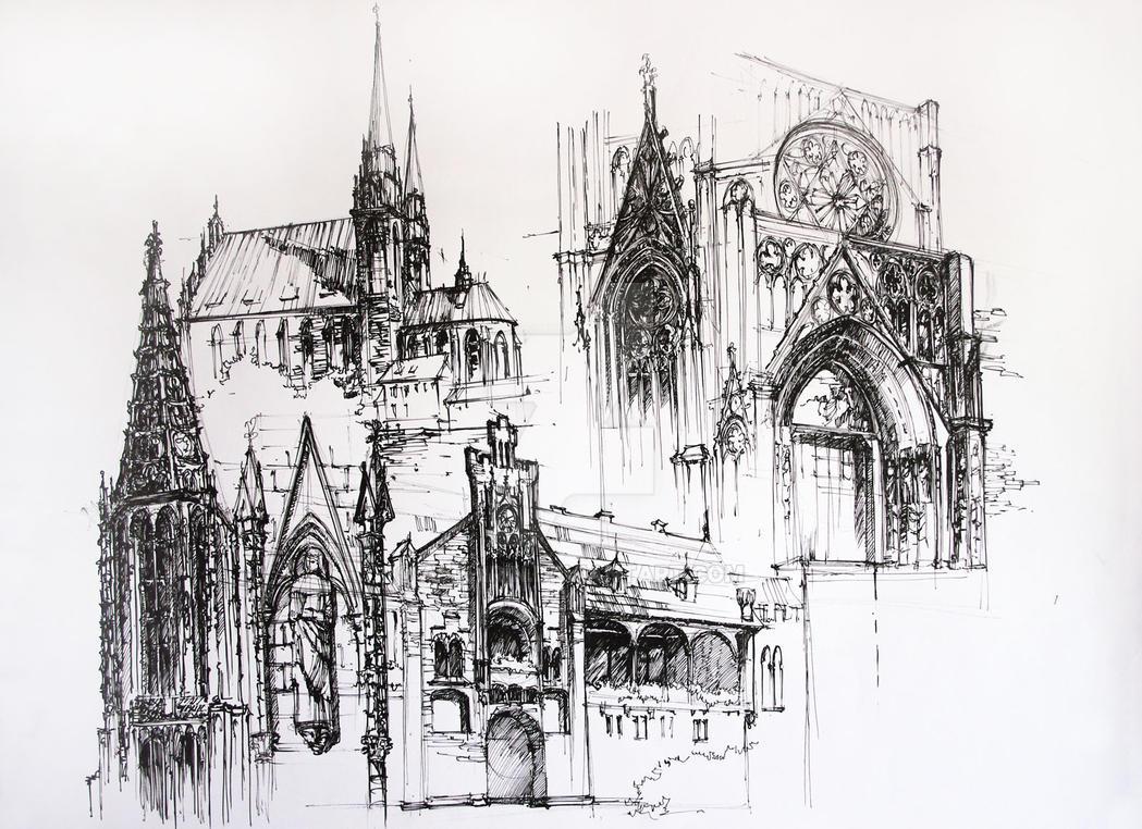 Gothic Architecture by Alphirin